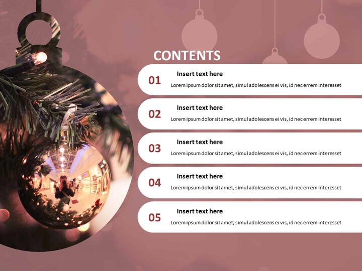 로맨틱 크리스마스 - 파워포인트 템플릿 무료 다운로드_02
