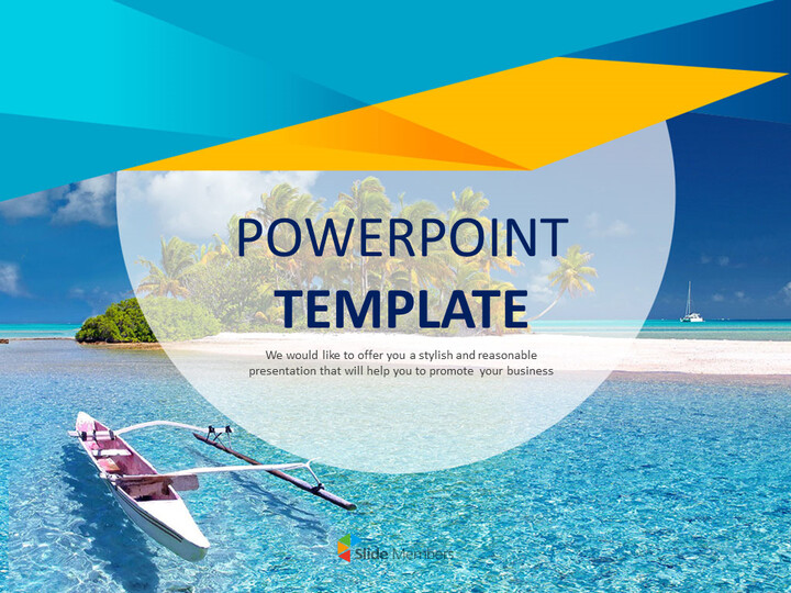Canoe At The Vacation Spot Powerpoint Templates Free Download
