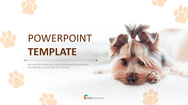 Cute Puppy - PowerPoint Images Free Download_01