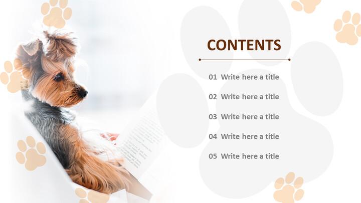 귀여운 강아지 - 파워포인트 이미지 무료 다운로드_02