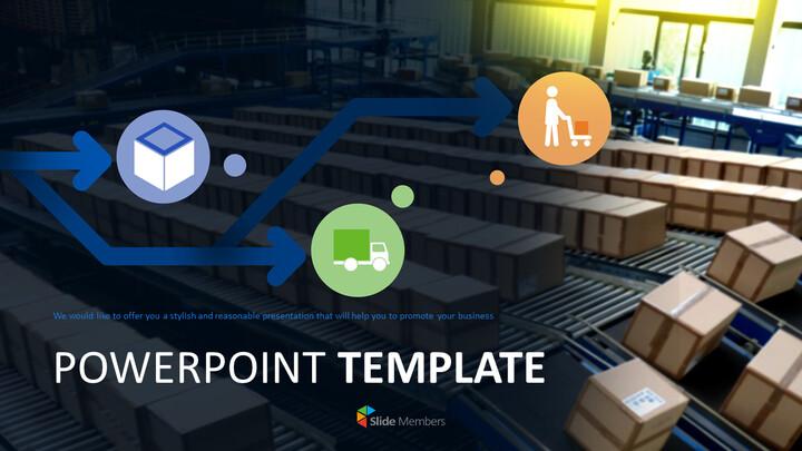 Distribution Process Free Template Design