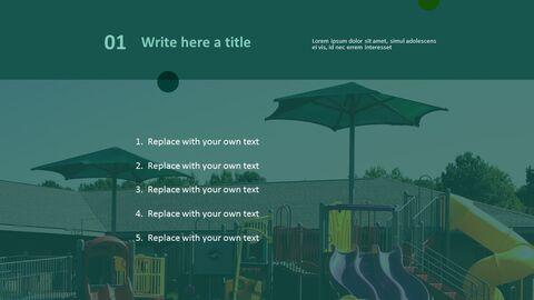무료 PowerPoint 템플릿 디자인 - 어린이와 놀이터_03
