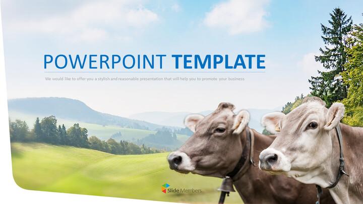 무료 PPT 템플릿 디자인 - 낙농업_01