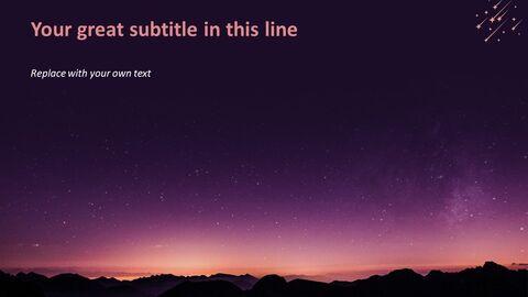 PPT 디자인 무료 - 별이 빛나는 밤하늘_04