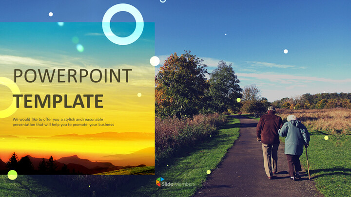 Ppt Download Free Walking Old Couple