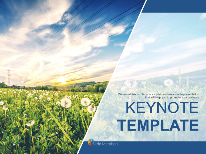 Keynote Template Free Download - Sunset on Leaves_01