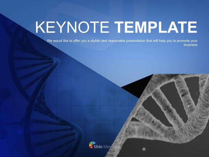DNA 테마 - 무료 키노트 템플릿_01