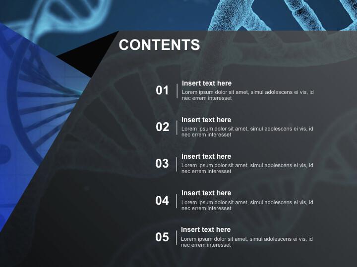 DNA 테마 - 무료 키노트 템플릿_02