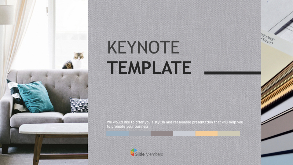 Interior Color Book Free Business Keynote Templates