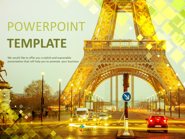 Free Google Slides Template - The Eiffel Tower_01