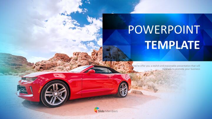 빨간 차 - 무료 Google 슬라이드 템플릿_01