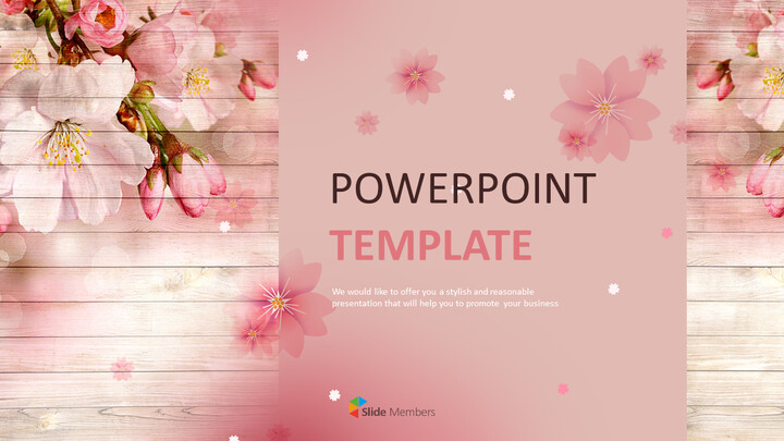 Cherry Blossoms - Google Slides Templates Free Download_01