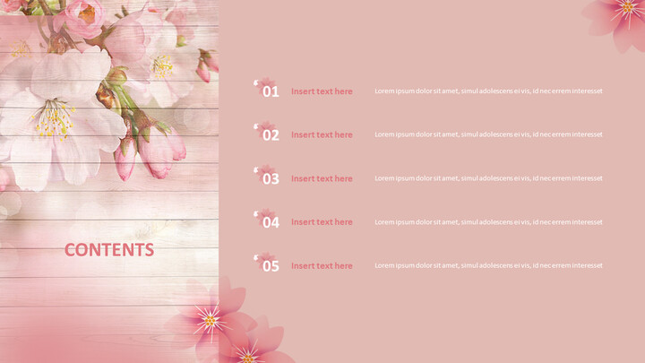 Cherry Blossoms - Google Slides Templates Free Download_05