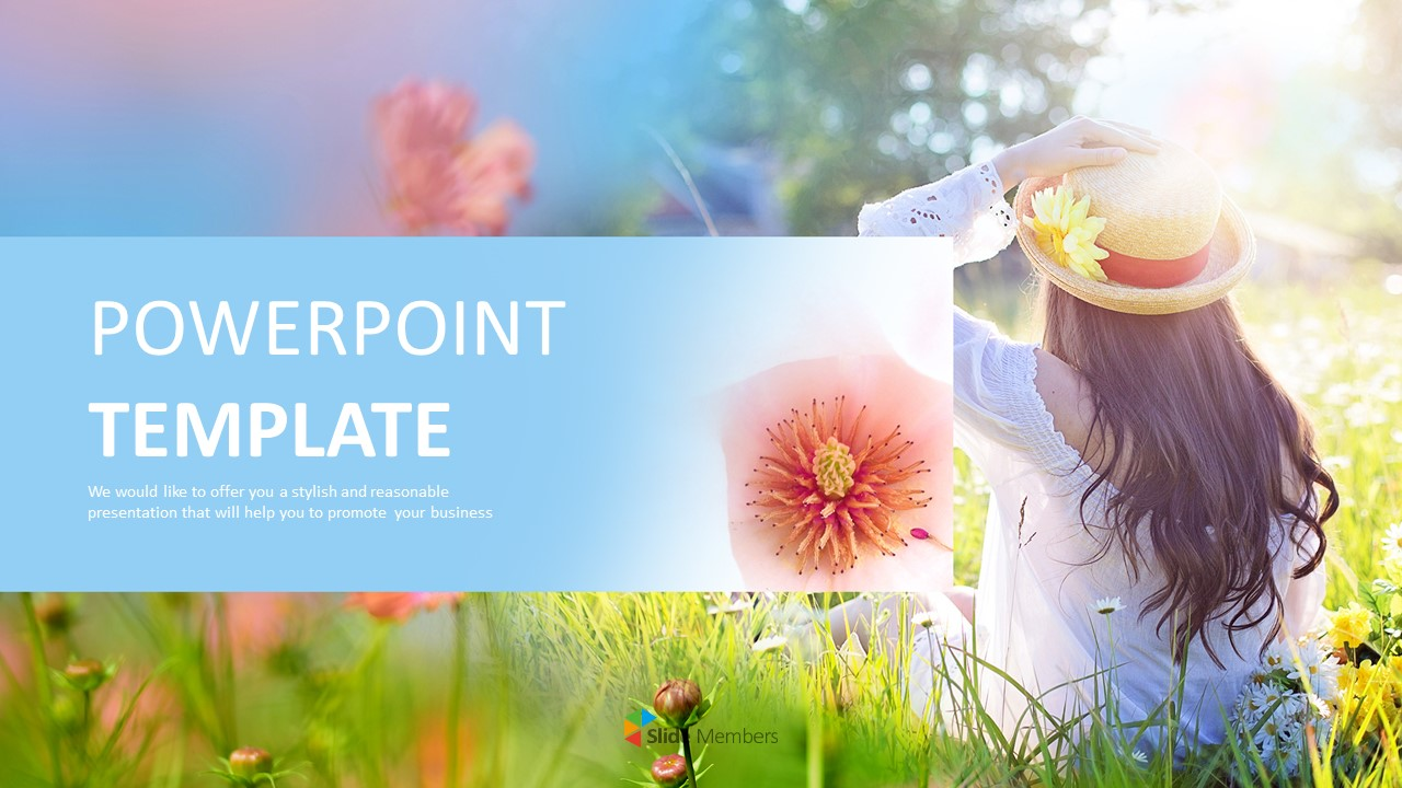 Free Google Slides Backgrounds A Sunny Spring Day