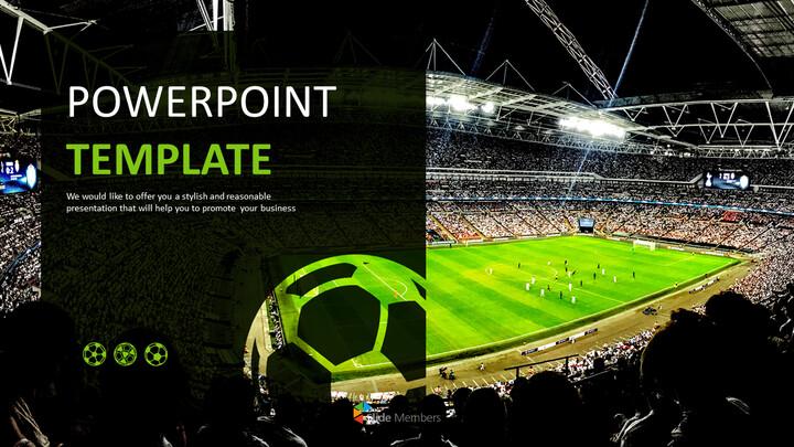 Free Google Slides Backgrounds - Soccer Big Match_01