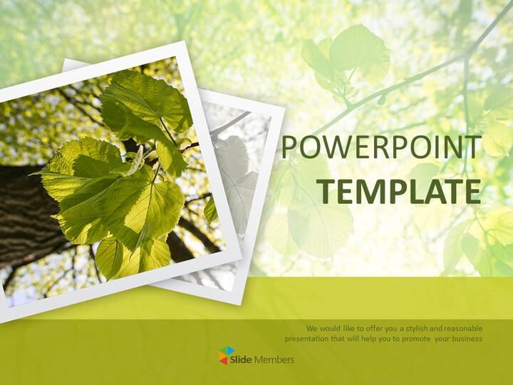 Free Google Slides Template - Green Leaves_01