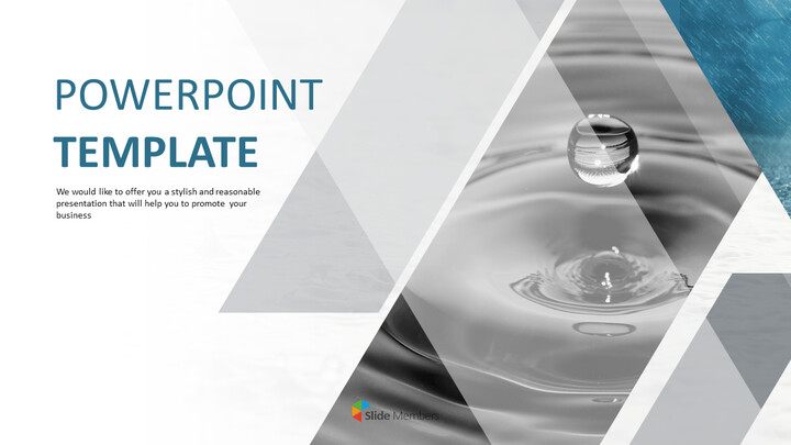 Free Presentation Template - Water Drop_01