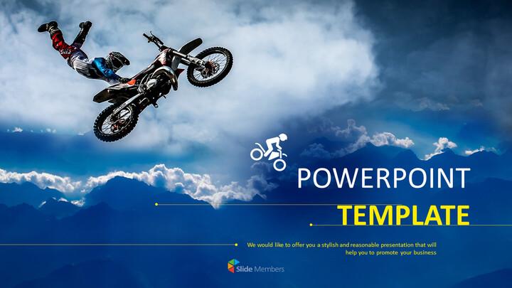 Motorbike Trick - Google Slides Template Free Download_01