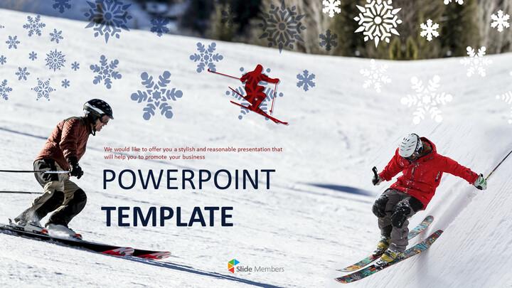 스키 - Google 슬라이드 템플릿 무료 다운로드_01