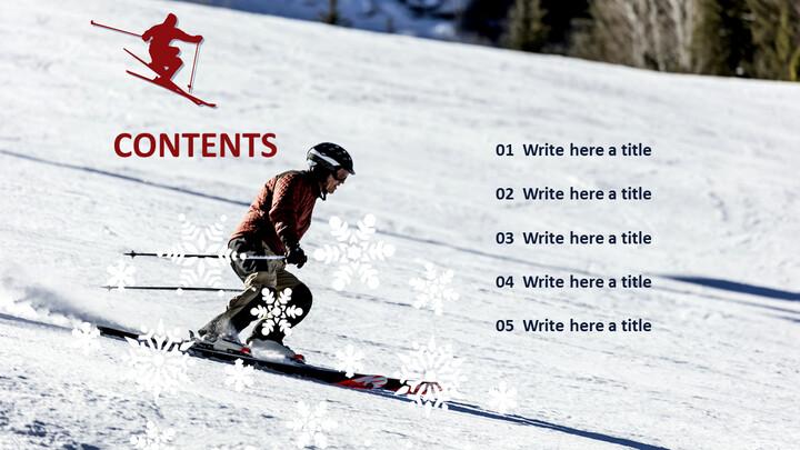 스키 - Google 슬라이드 템플릿 무료 다운로드_05