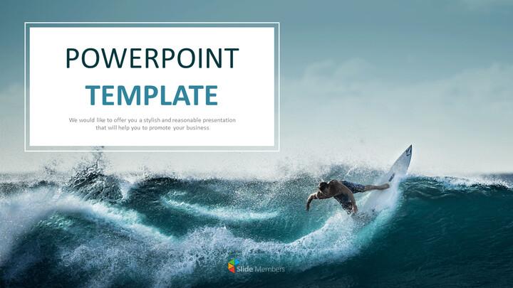 서핑 - 무료 비즈니스 구글 슬라이드 템플릿_01
