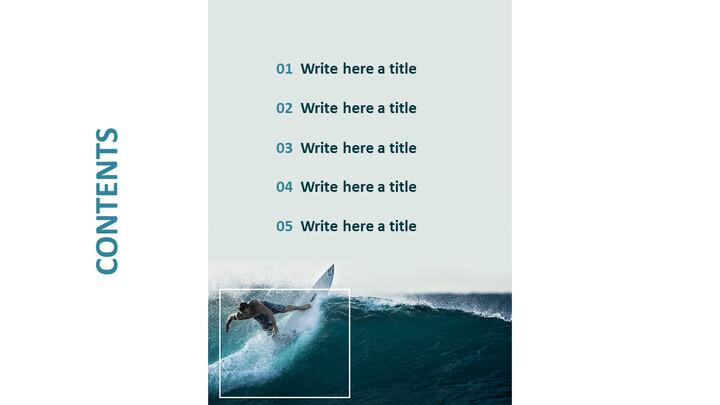 서핑 - 무료 비즈니스 구글 슬라이드 템플릿_03