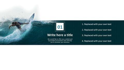 서핑 - 무료 비즈니스 구글 슬라이드 템플릿_04