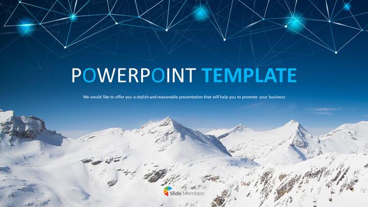 눈 덮인 산의 정상 - 무료 Google 슬라이드 템플릿_01