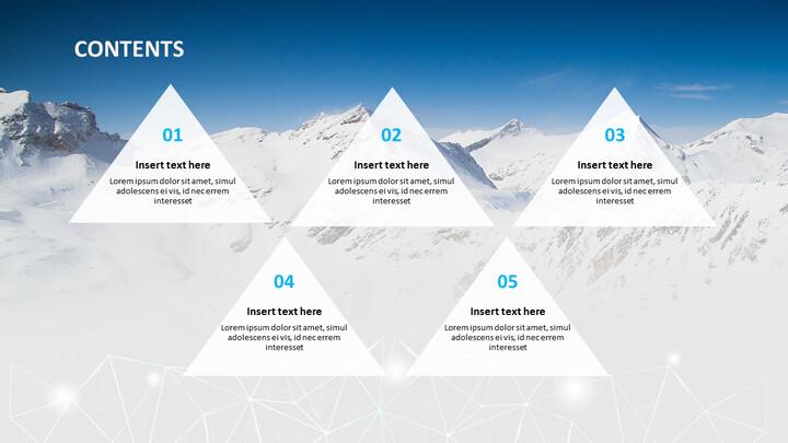 눈 덮인 산의 정상 - 무료 Google 슬라이드 템플릿_05