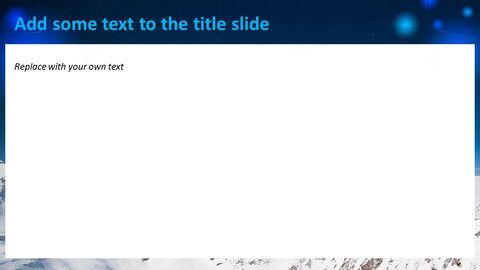 눈 덮인 산의 정상 - 무료 Google 슬라이드 템플릿_02