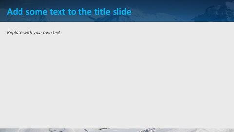 눈 덮인 산의 정상 - 무료 Google 슬라이드 템플릿_04