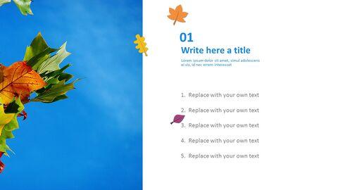 푸른 하늘과 낙된 엽 - 무료 Google 슬라이드_04