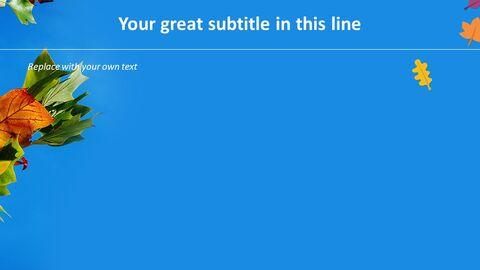 푸른 하늘과 낙된 엽 - 무료 Google 슬라이드_03