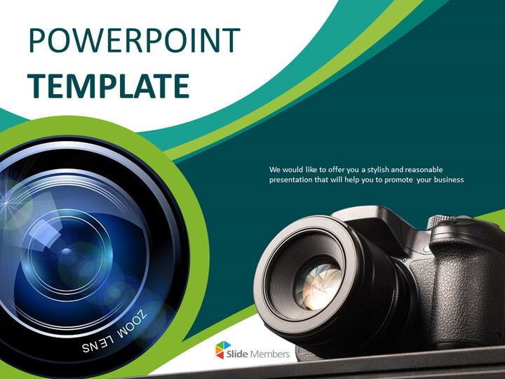디지털 카메라 - 무료 구글 슬라이드 템플릿 디자인_01