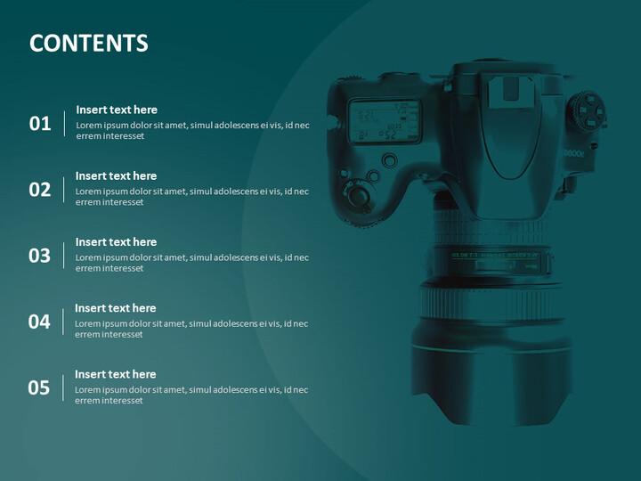 디지털 카메라 - 무료 구글 슬라이드 템플릿 디자인_02