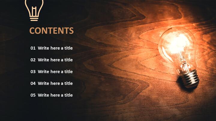 무료 Google 슬라이드 배경 - 전구 브라이트닝 다크_05