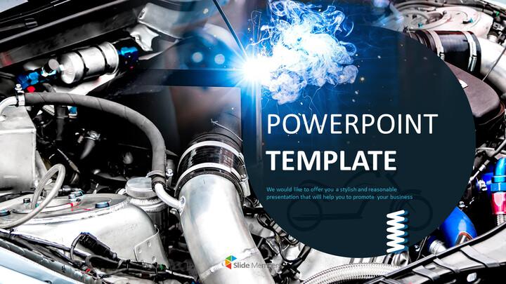 전문가 구글슬라이드 무료 템플릿 - 기계 제조 및 유지 보수_01
