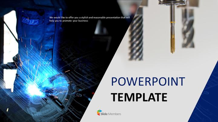 Google 슬라이드 템플릿 무료 다운로드 - 기계 용접_01