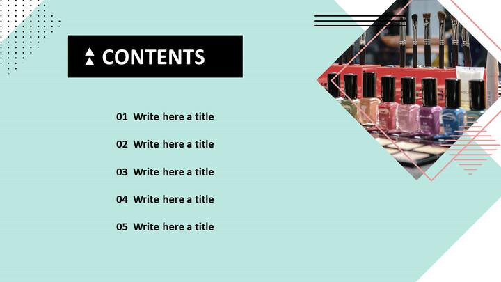 다양한 매니큐어 - Google 슬라이드 이미지 무료 다운로드_04