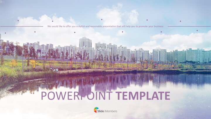 아파트 근처 호수 - 무료 Google 슬라이드 템플릿_01