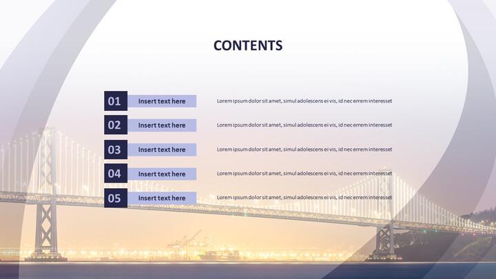 다리에 빛 - 무료 Google 슬라이드 배경_02