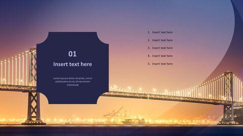 다리에 빛 - 무료 Google 슬라이드 배경_04
