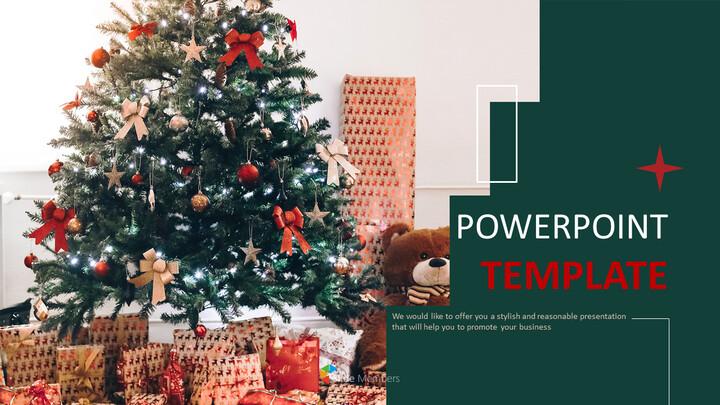 무료 Google 슬라이드 템플릿 - 크리스마스 트리_01