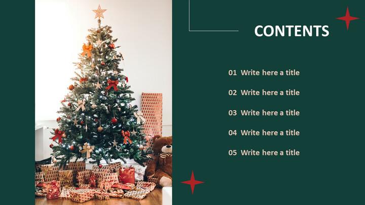 무료 Google 슬라이드 템플릿 - 크리스마스 트리_02