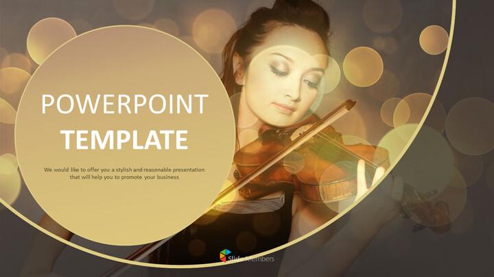 Google 슬라이드 템플릿 무료 다운로드 - 바이올린 연주_01