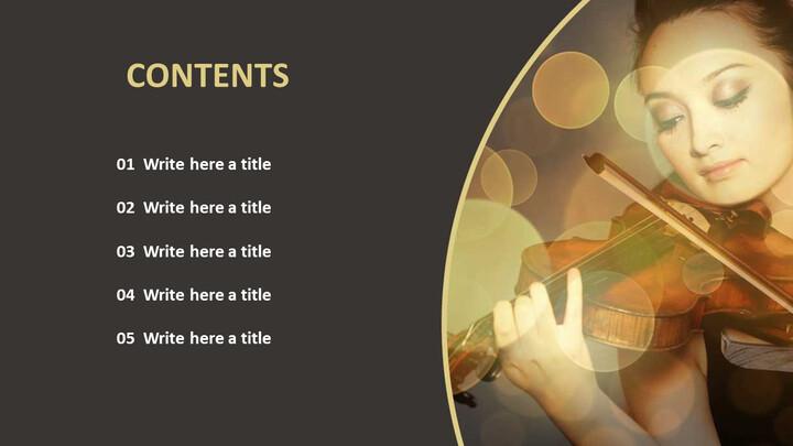 Google 슬라이드 템플릿 무료 다운로드 - 바이올린 연주_02