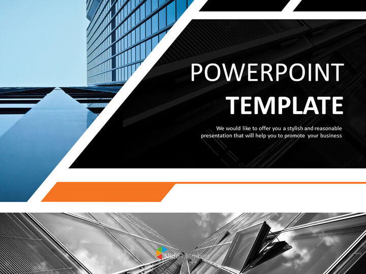 Free Google Slides Template Design - Business Building in a Dark Atmosphere_01