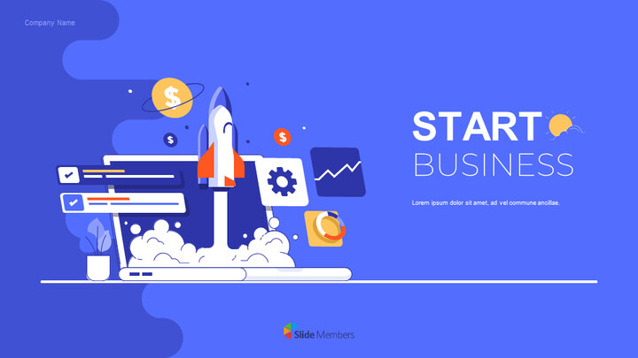 Start Business Pitch Deck Simple Google Presentation_01