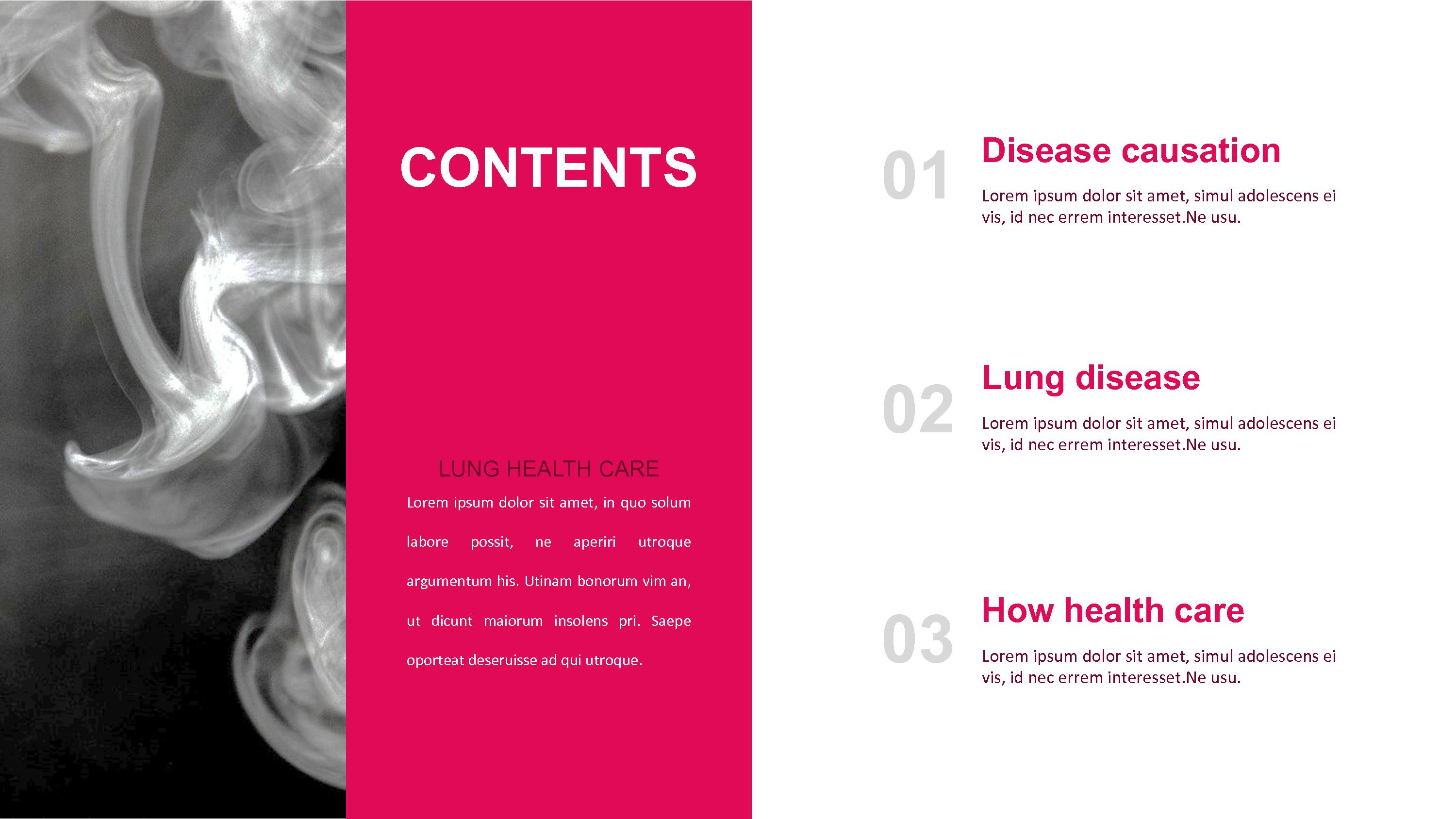 Lung Health Care Google Ppt Templates