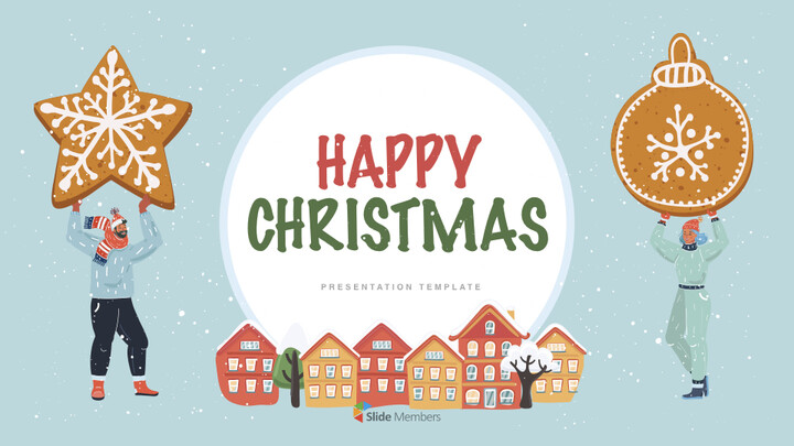 Happy Christmas Theme Keynote Design_01
